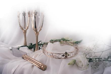 The custom wedding line of Blazer Arts began when my husband and I were